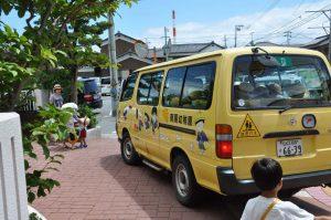 240718南陽幼稚園降園の様子(入道雲)