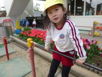 250410南陽幼稚園園庭にて