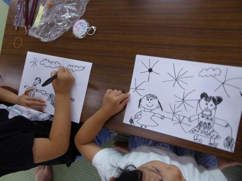 南陽幼稚園のお泊まり会の様子。思い出の絵。
